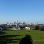 Sicht auf London von Greenwich